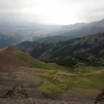 Looking back towards Telluride from Mendota Ridge