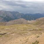 The ski slopes at Telluride from Mendota Ridge