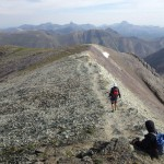 Summit ridge coming off of Handies