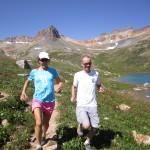 Kari and I running at Ice lake
