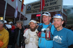 Pete Stevenson, Chris Gerber, and me at the start