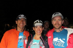 Marc, KT and I at the start.