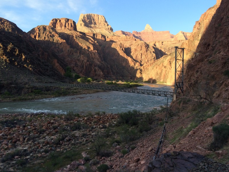 Colorado River shortly before sunset.
